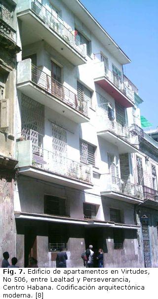 El Edificio De Apartamentos Art Deco En La Habana