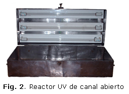 Fig. 2. Reactor UV de canal abierto